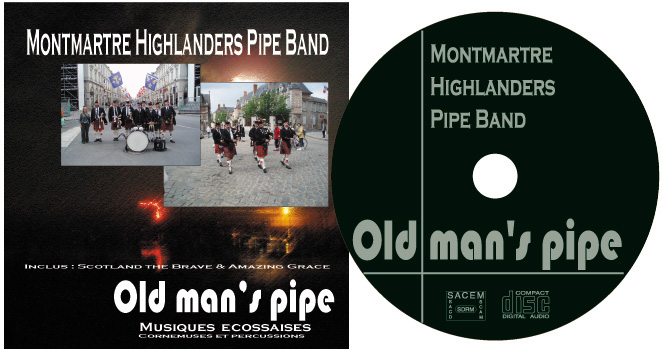 Pipe Band Montmartre Highlanders : le CD